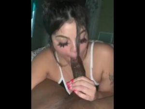 Latina interracial blow job big cock