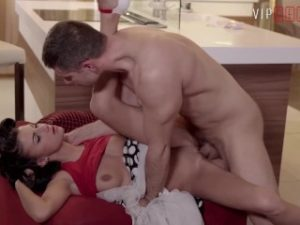 VIPSEXVAULT – Petite Young Babe Fucked To Climax In the Kitchen