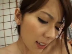 Yui Hatano Hot Japanese Babe Threesome with Husband & Father