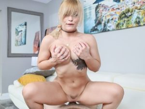 Busty Blonde Babe Fucks Her New Step Daddy