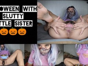 Trick or Treat in This Pussy. Spending Halloween with SLUTTY Sister