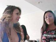 Busty round ass Gianna Nicole's first porn