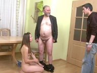 Old men – young girl HD