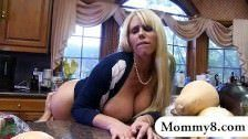 Big ass MILF creampie which is licked up