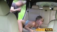 FakeTaxi Passenger rides her biggest cock