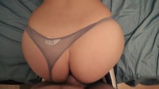 POV and close-up sex in leggings and panties