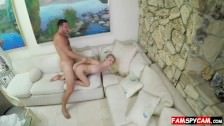 Perverted dad fucks daughter on a spy cam