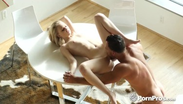 PornPros Big dick fuck and faical with petite blonde Lily Rader