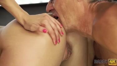 DADDY4K. Mature gentleman enjoys forbidden sex with young hottie