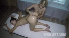 Lesbian Figging Massage