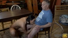 DADDY4K. Man properly nails black-haired hottie in daddy porn video