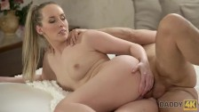 DADDY4K. Sexy chick finally agrees to spread legs for excited daddy