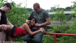 Risky PUBLIC sex threesome Part 3